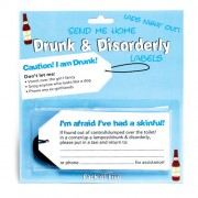 Drunk  and  Disorderly Labels  Boys