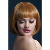 Fever Mia Wig, Auburn, Short Bob with Fringe, 25cm / 10in