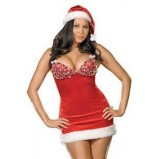 Dreamgirl Santa Dress with Sparkly Bust
