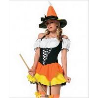 Halloween Costume Kandy Korn Witch By Leg Avenue