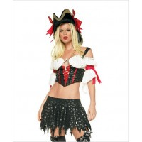 2 pc Leg Avenue Marauder Pirate Costume