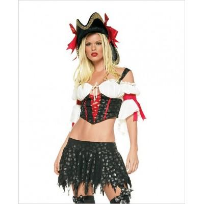 2 pc Leg Avenue Marauder Pirate Costume