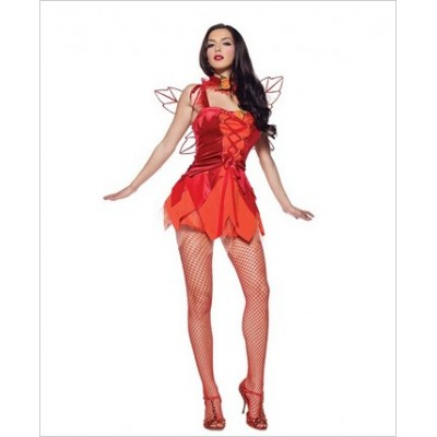 2 pc Autumn Fire Fairy costume