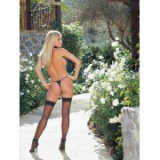 Sheer Stockings with Backseam