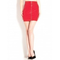 PVC Isabella Red Skirt