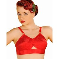 Stockings and Romance - Red Whirlpool Bullet Bra