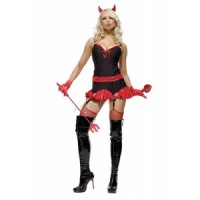 3PC Pinstriped Devil Halloween Costume by Leg Avenue