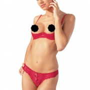Cottelli Collection Red Lace Open Bra Set