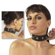 Leather Bondage Collar with Stud Detail