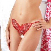 Sequined RED Butterfly GString