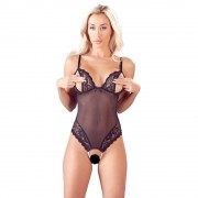 Cottelli Crotchless Peek a Boo Body