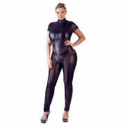 Cottelli Plus Size Jumpsuit with Net