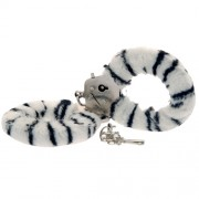 Toy Joy Furry Fun Cuffs Zebra Plush
