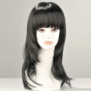 Kate Long Black Wig