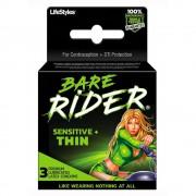 Bare Rider Sensitive Thin Latex Condoms 3pk