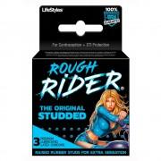 Rough Rider Original Studded Latex Condoms 3pk