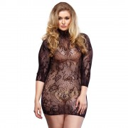 Leg Avenue Floral Lace Mini Dress UK 18-22
