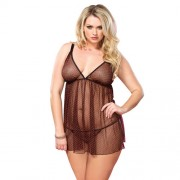 Leg Avenue Chemise With Red Hearts