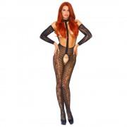 Leg Avenue Reversible Long Sleeved Bodystocking UK size 8-14
