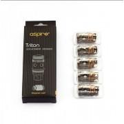 Aspire Triton Coils  5 Pack [Clapton]