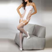 Corsetti Denise Bodystocking White UK Size 8-12