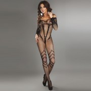 Corsetti Siriana Bodystocking Black UK Size 8-12