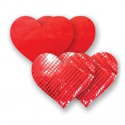 Nippies Pasties  Solid Red Heart