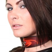 House of Eros Dark Red Swirl Collar