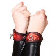 House of Eros Dark Red Swirl Cuffs