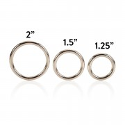 3 Piece Silver Cock-Ring Set.