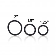 3 Piece Rubber Ring Cockring Set