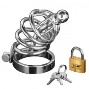 Asylum 4 Ring Locking Stainless Steel Chastity Cage